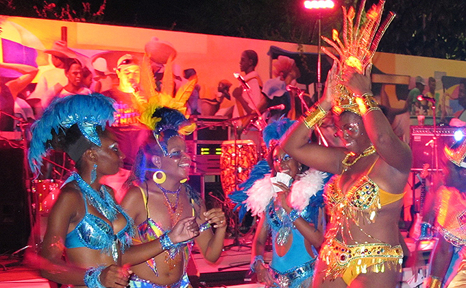 Carnival dancers at Big Night in Little Haiti